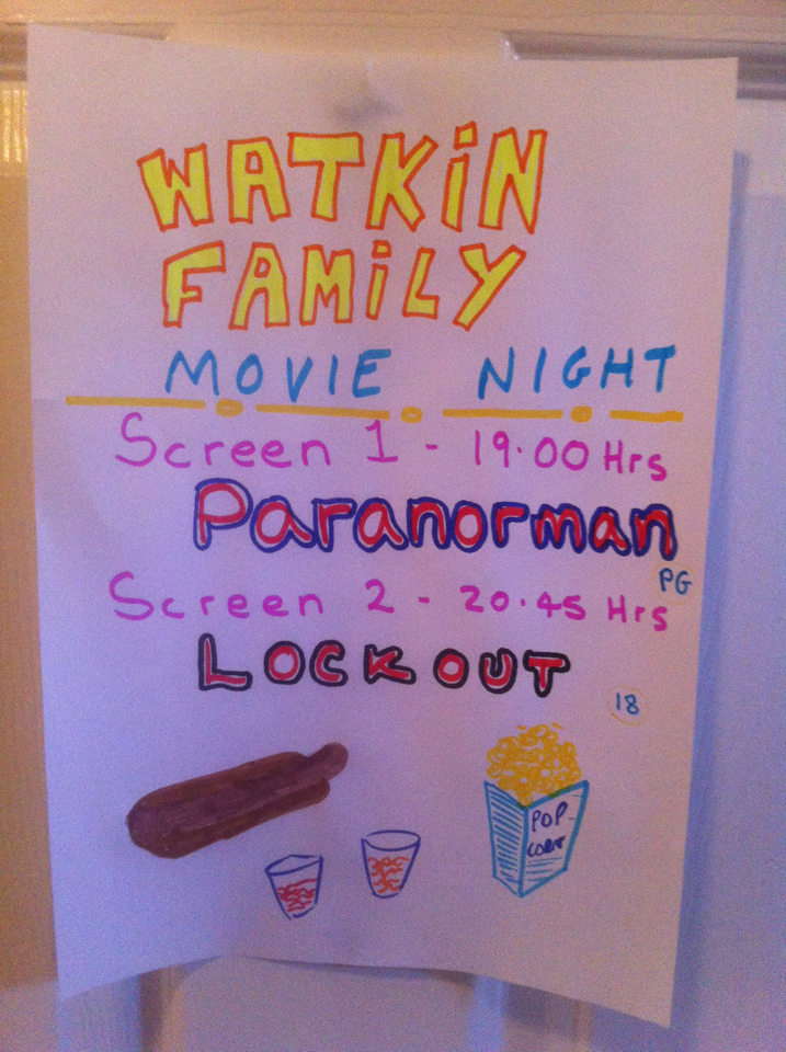 Watkins Family Movie Night